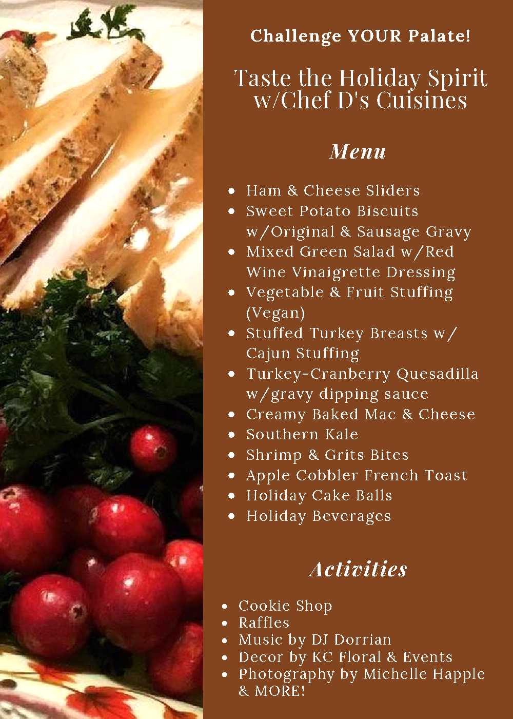 Holiday Brunch Menu