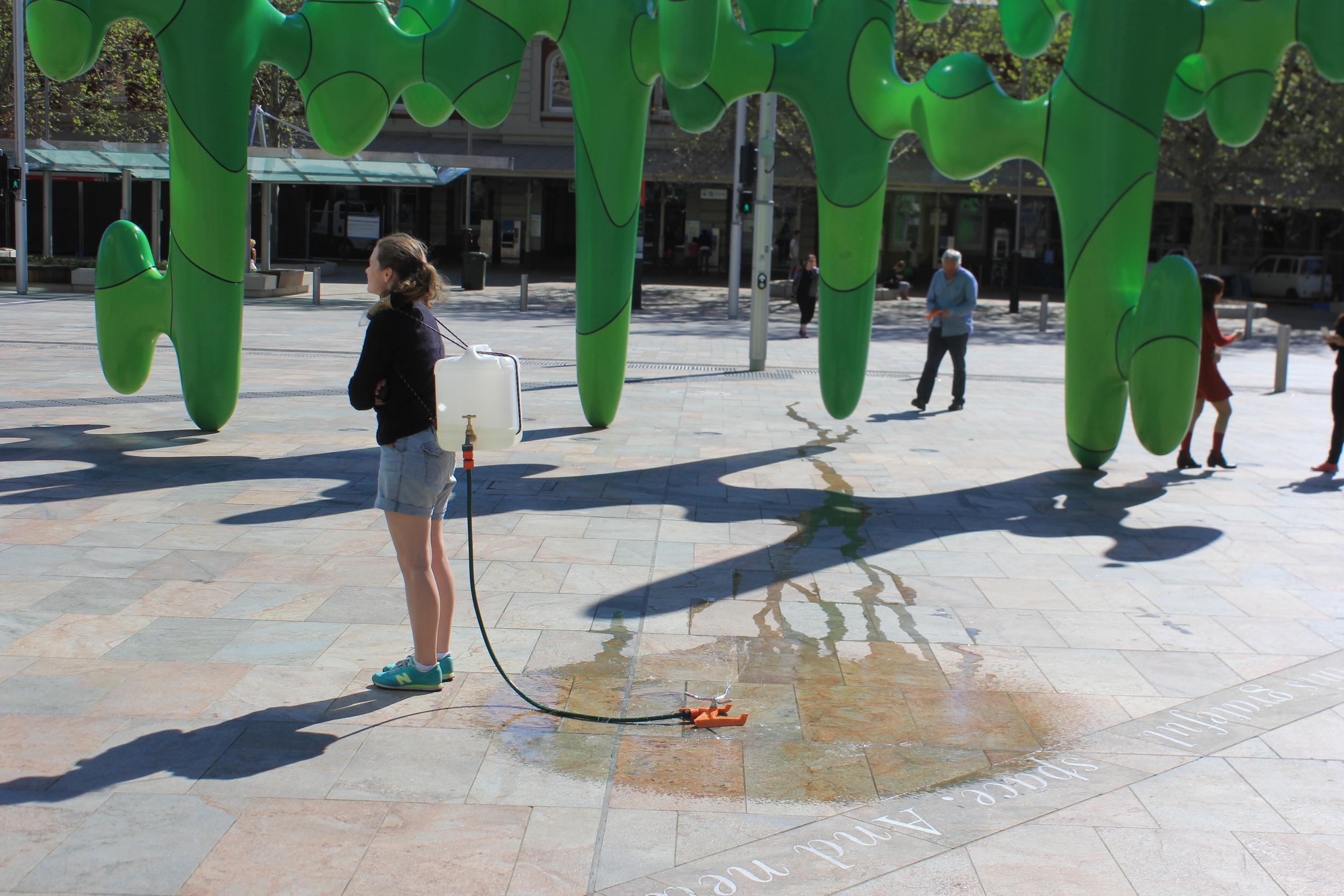 Portable Pop-Up Public Fountain