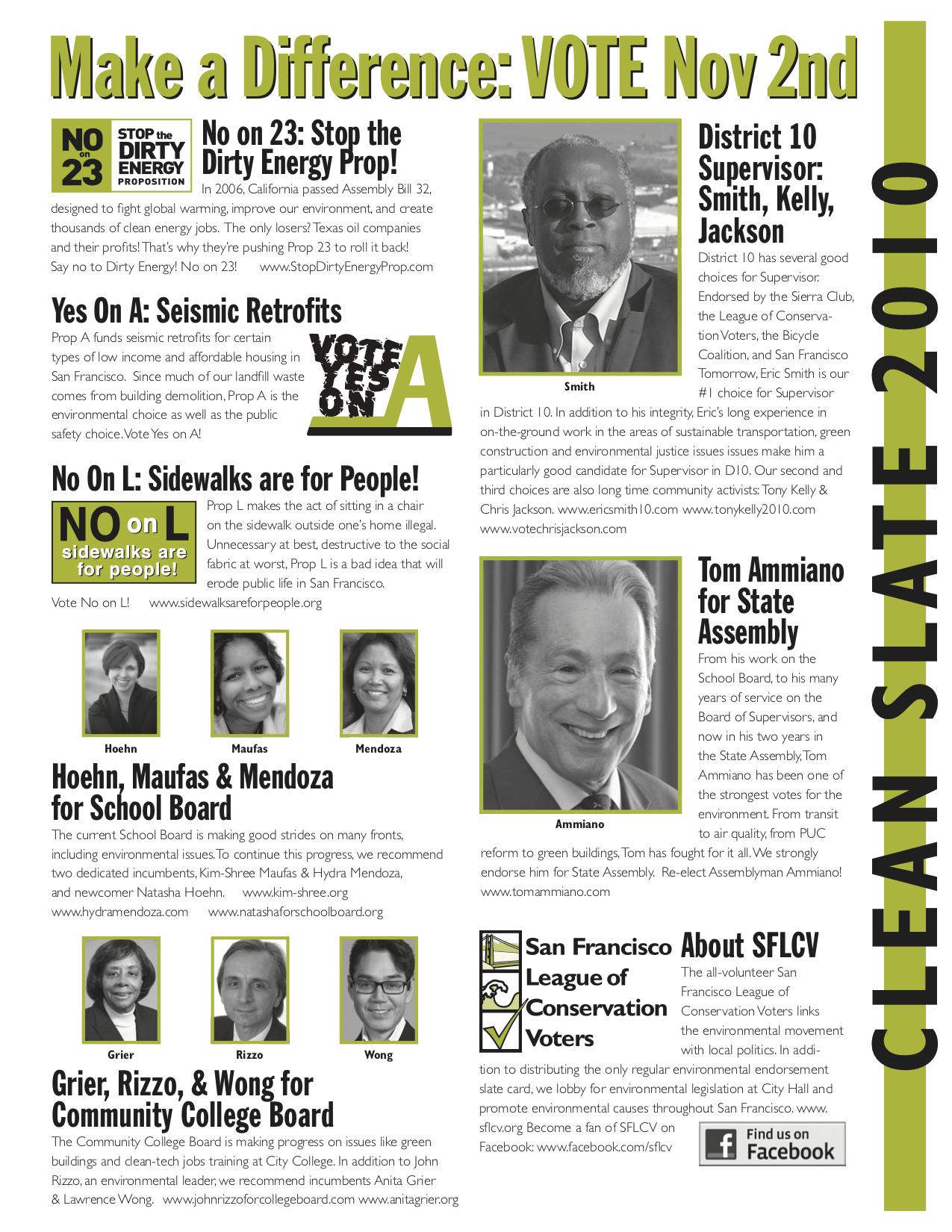 November 2010 District 10 SFLCV slater mailer