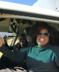 Oprah the human, enjoying New Zealand during the filming of 'A Wrinkle in Time'