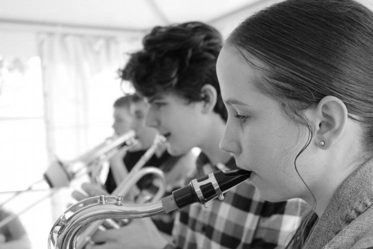Student ensemble rehearsing in 2017.