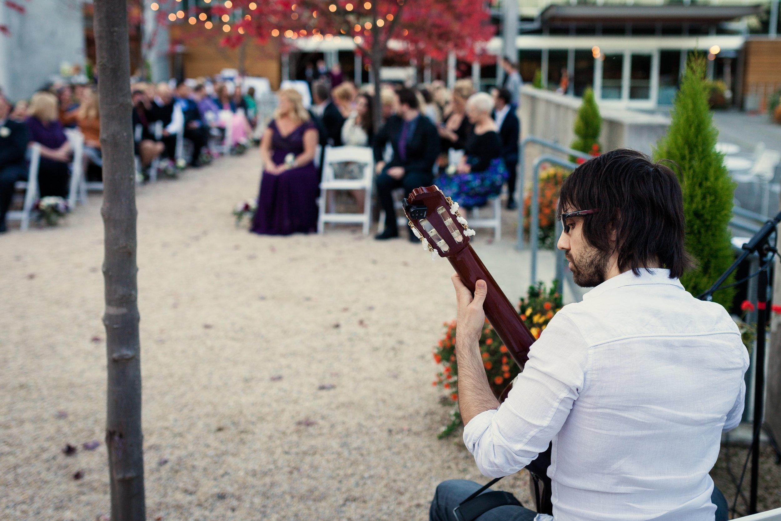 Ken Elia Performing Classical Guitar for a Wedding Processional
