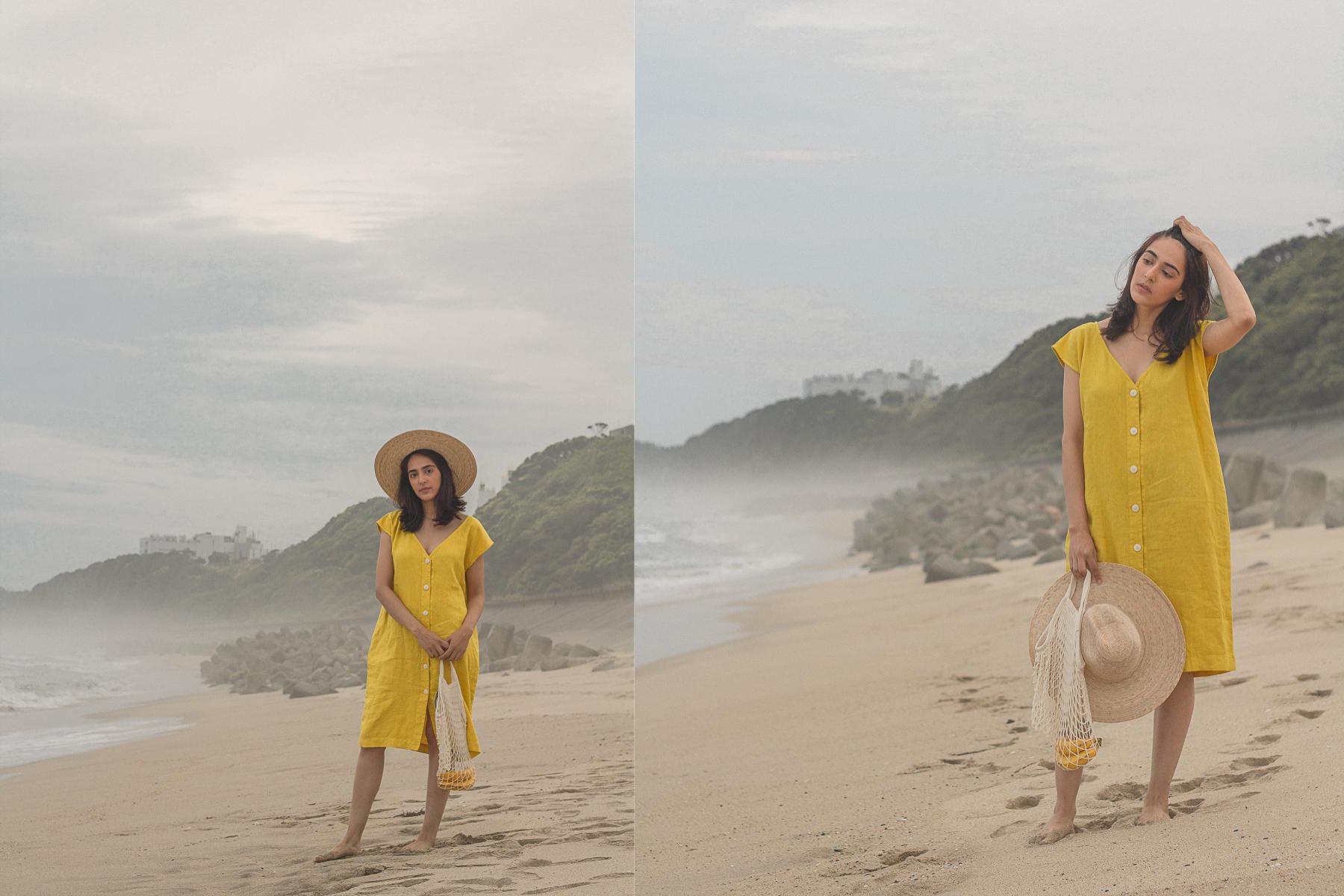Malia Linen Dress  +  French Market Bag