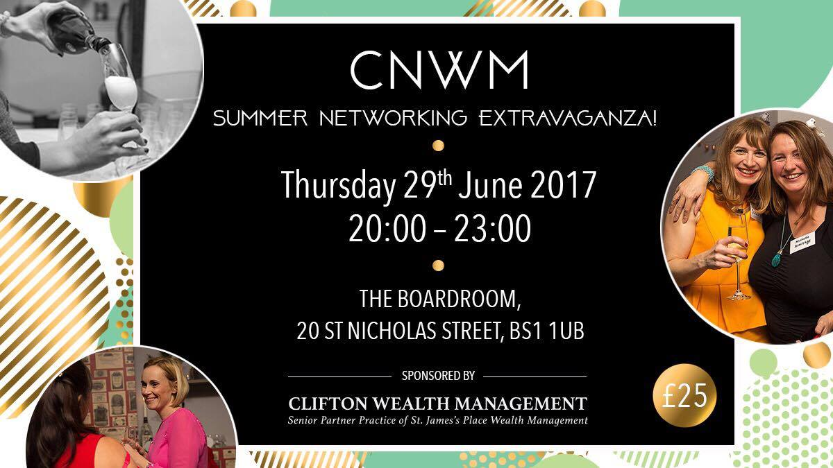 Start Summer with a Come Network With Me Networking Extravaganza!   The first of 4 fabulous seasonal networking events taking place throughout the year. Join us at Brace & Browns for an evening of Networking with fellow business women whilst enjoying a glass of Fizz, Canape's and some extra special entertainment which will be revealed soon.....   I'm also happy to announce the return of the Promo Table! Remember the mini wardrobe or the tree of health from the Christmas party? Think outside the box and create the most memorable display of your business possible, this is your chance to showcase your business and show us what you are all about! There will be a prize for the best 3 displays so be as outlandish as you like!    Photographs taken from this event may be used for social media & other marketing purposes, please notify sarah@sarahcook.co.uk if you do not wish your photo to be used.   BOOK HERE >>>>