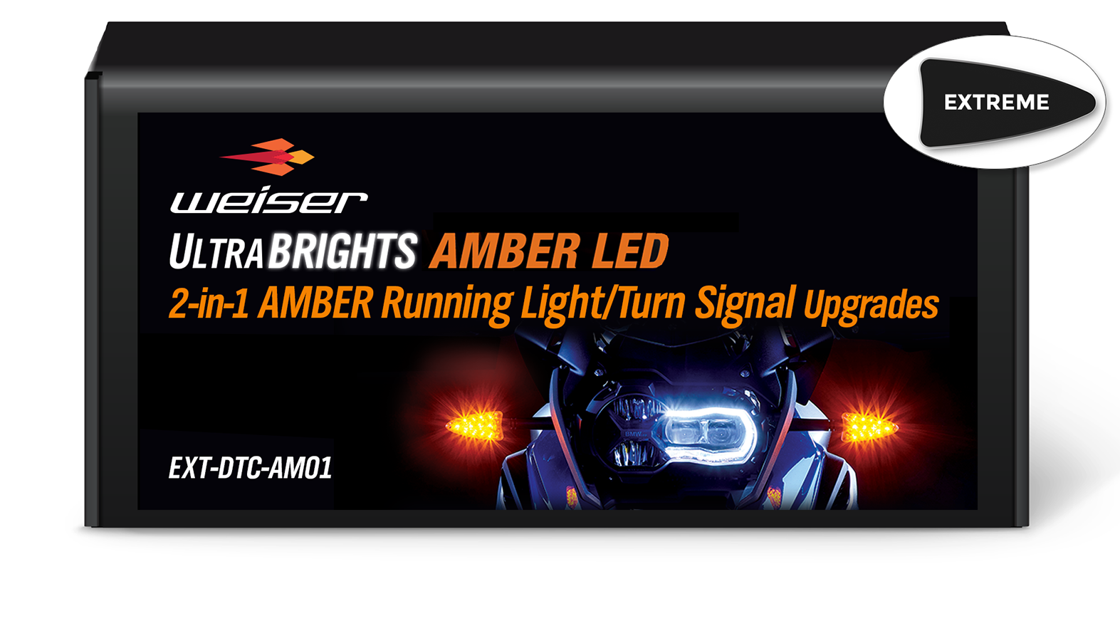 Extreme 2-in-1 LED AMBER Running Light/AMBER Turn Signal Upgrades EXT-DTC-AM01