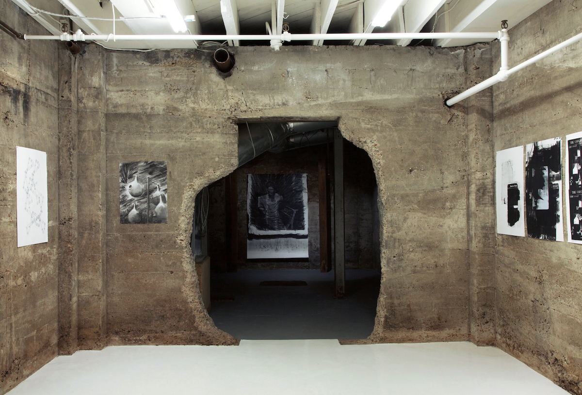 Installation images of The Daily Avalanche, Tops Gallery, Memphis, TN, March 24-May 13, 2018  This exhibit focused on ideas of cultural amnesia: what is forgotten, what is remembered, what leaves an impression, what allows for suppression.