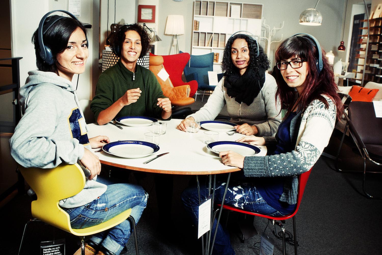 Marall Nasiri, Maria Salah, Ellen Nyman och Elmira Arikan. ©Audiorama