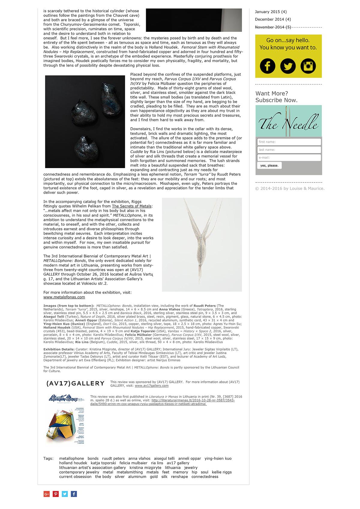 REVIEW _ The 3rd International Biennial of Contemporary Metal Art _ METALLOphone_ Bonds _ Louise & Maurice-2.jpg