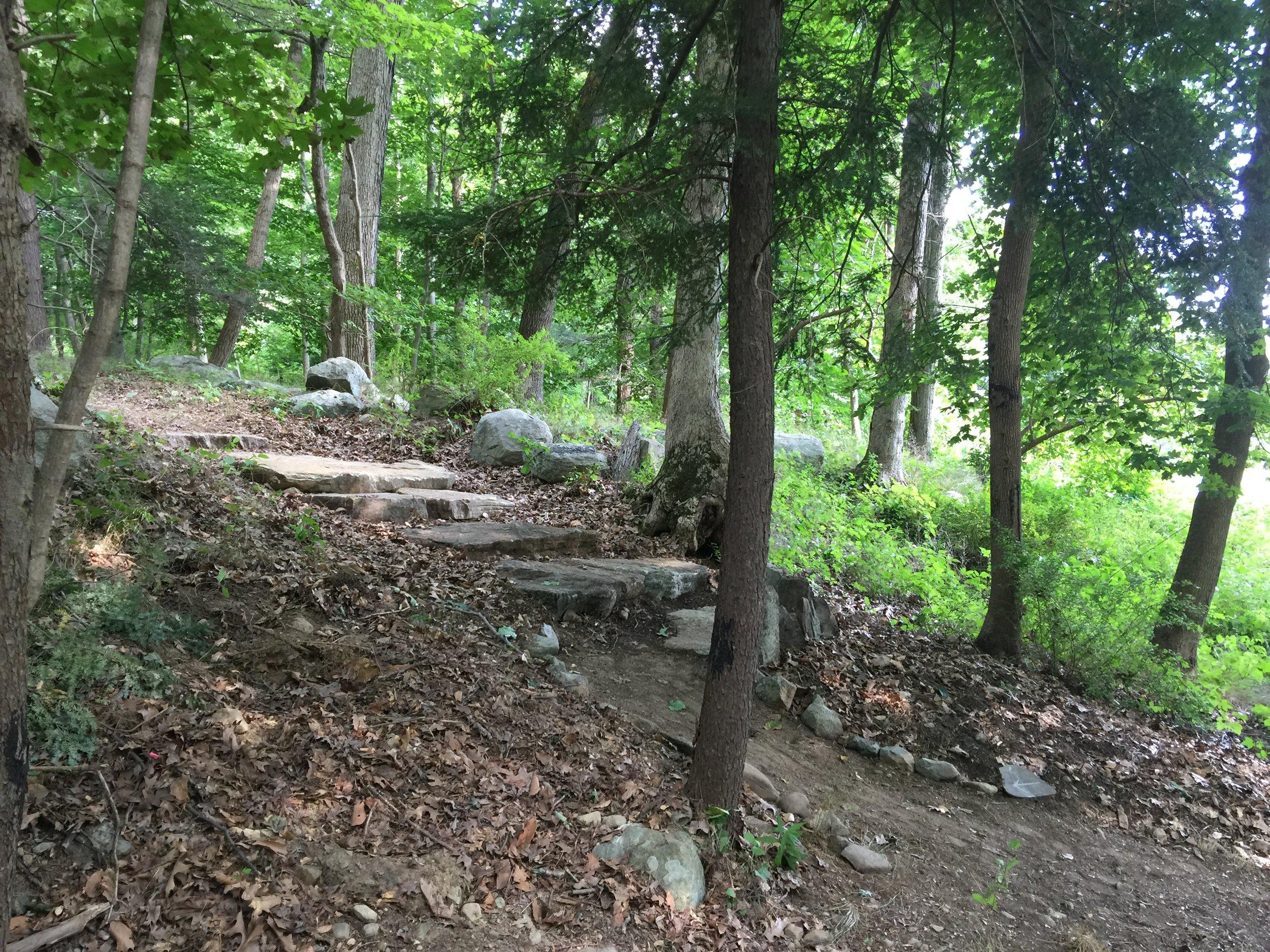New stone steps