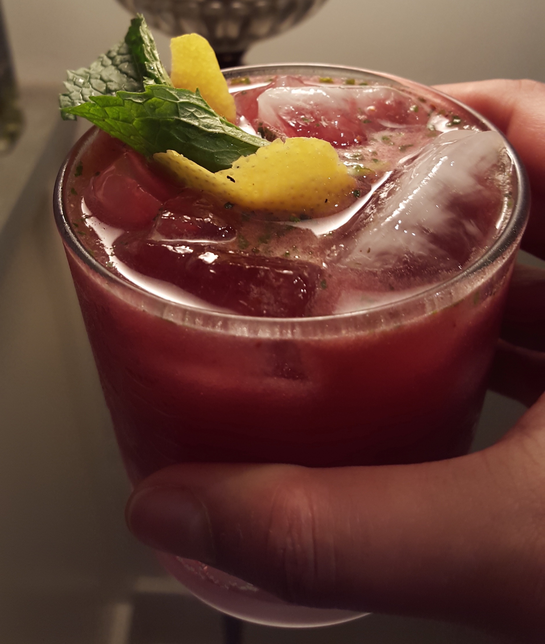 Blueberry Bourbon Mint Lemonade