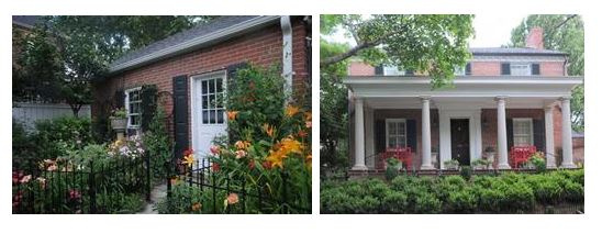 Two of the homes featured on the 2017 Alexandria Garden Week tour. The home on the right belongs to one of Charlene's clients!
