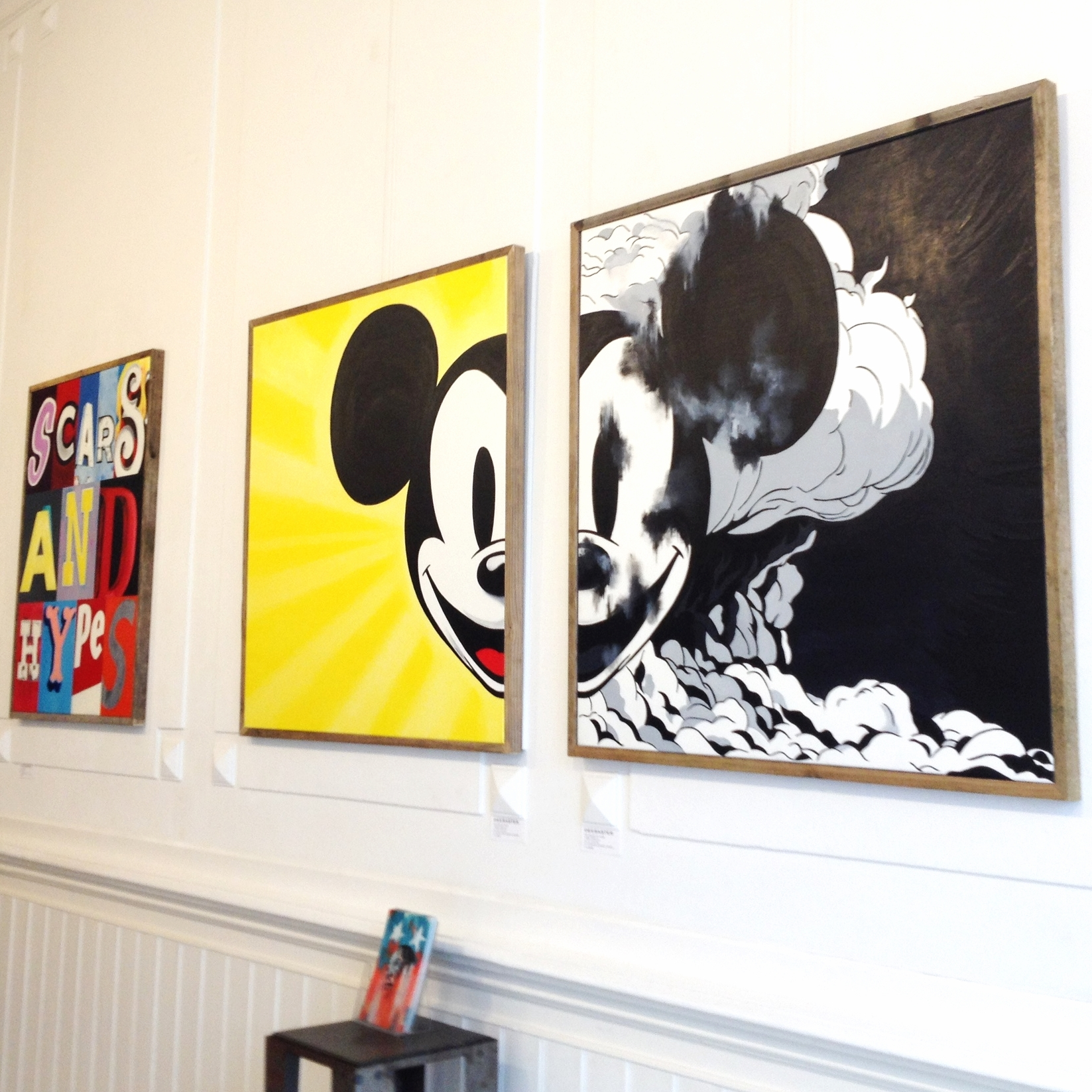 We love the work by  deesaster  - exhibition at  GoGallery .