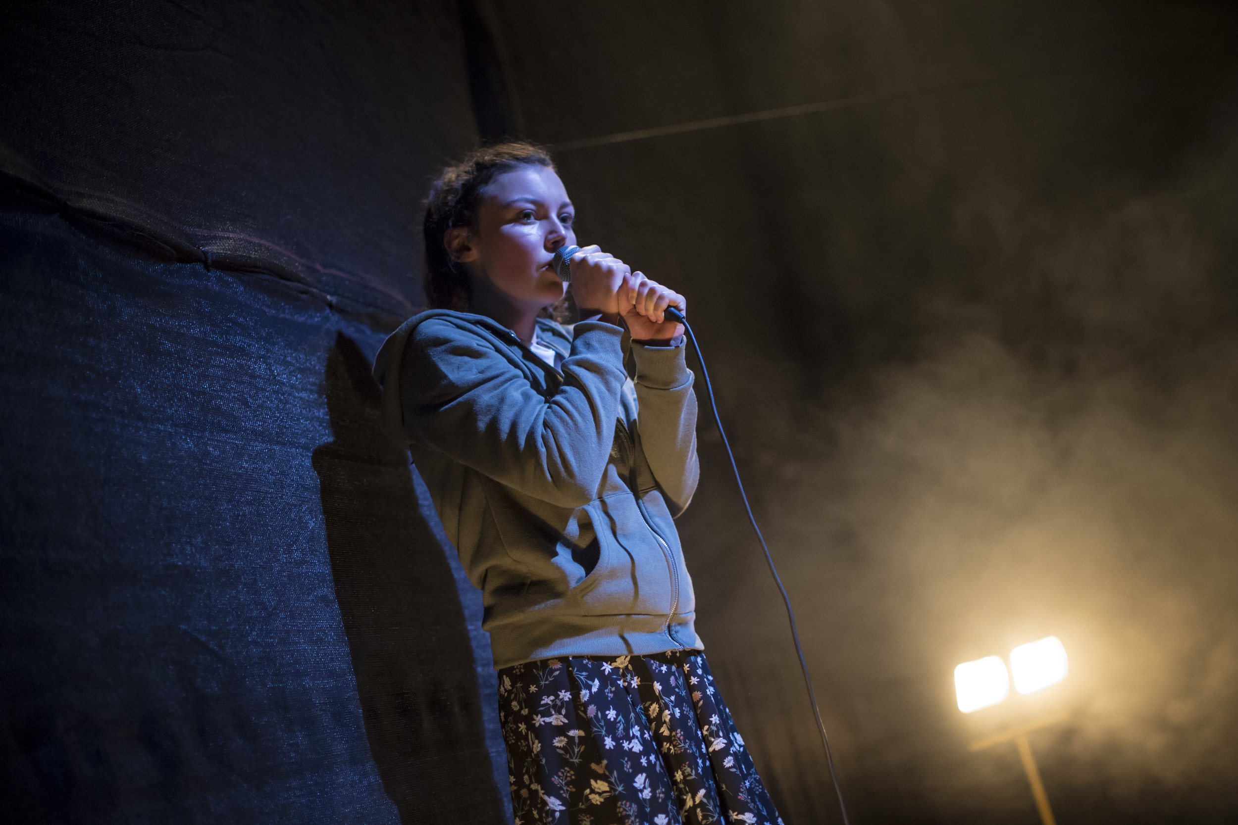 """"""" It is very unusual that one sees a theatre production that is truly unique, however Reality Check's opening night of Debris, at Smock Alley Theatre, really was a one-of-a-kind night of entertainment. """"    Reviews Hub"""