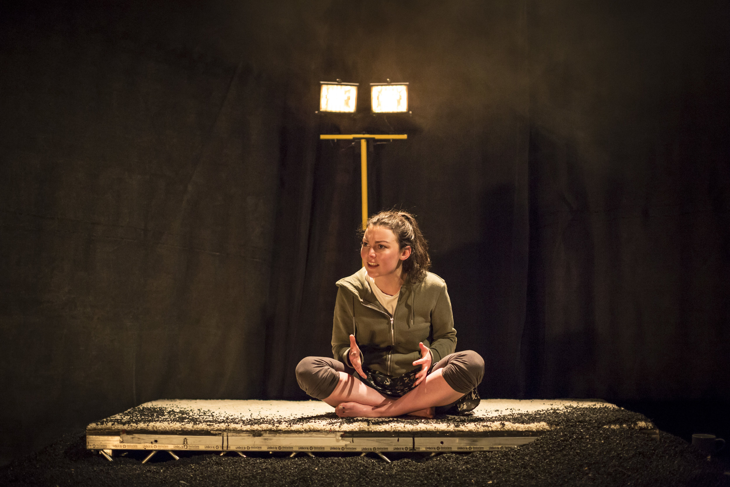 """"""" The two actors are perfectly matched, Harte brings enough humor and light to offset the bleak and craggy torturous stories given by O'Regan. """"    Meg.ie"""