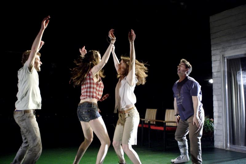 Detroit  / National Theatre / May 2012  Written by  Lisa D'Amour   Directed by  Austin Pendleton   Cast  Justine Mitchell  /  Clare Dunne  /  Will Adamsdale  /  Stuart McQuarrie  /  Christian Rodska   ★★★★ Evening Standard  ★★★ Guardian  ★★★ Daily Mail  ★★★ FT