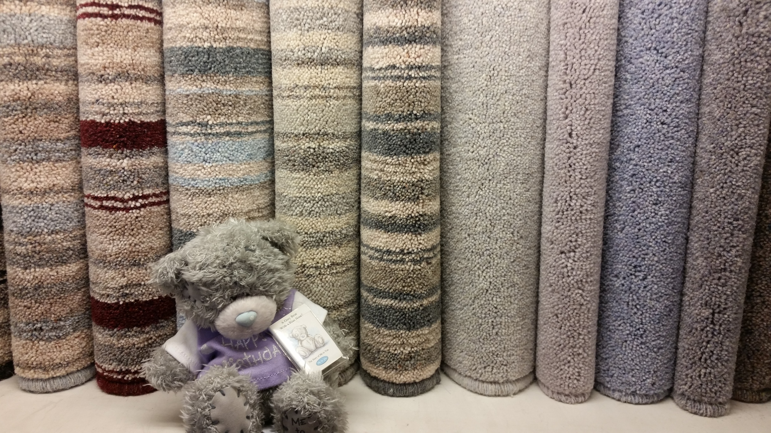 Gary The #Carpet Rep with our  Brockway  display.