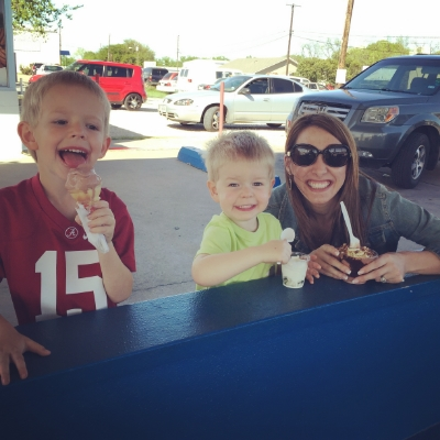 April 2016 After school ice-cream with my #footballfamily