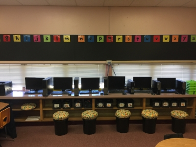 Obsessed with the word wall for next year! Mom & I used punch out letters and colored paper to create the look.