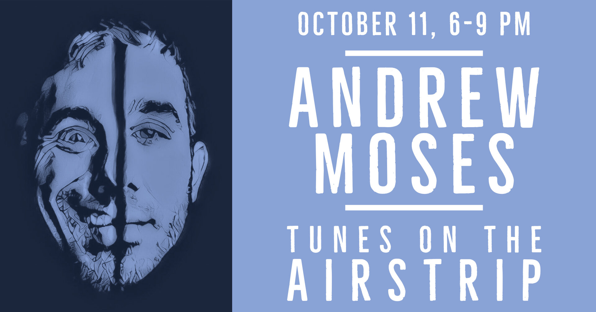 Andrew Moses plays Silverback from 6-9 p.m. October 11! Enjoy $3 off full-size cocktails during happy hour from 6-8 p.m.! Excludes smoked cocktails.