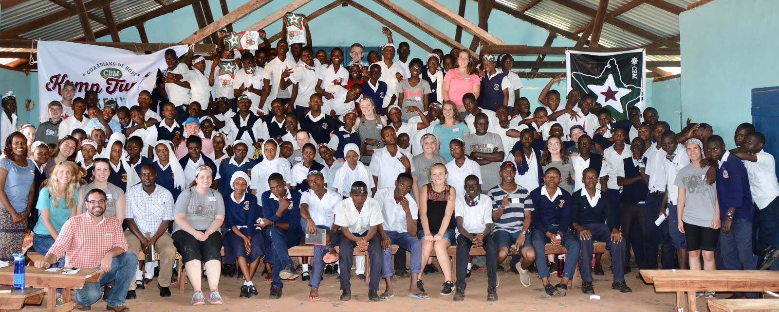 Form 1 (grade 9's) during their day of camp