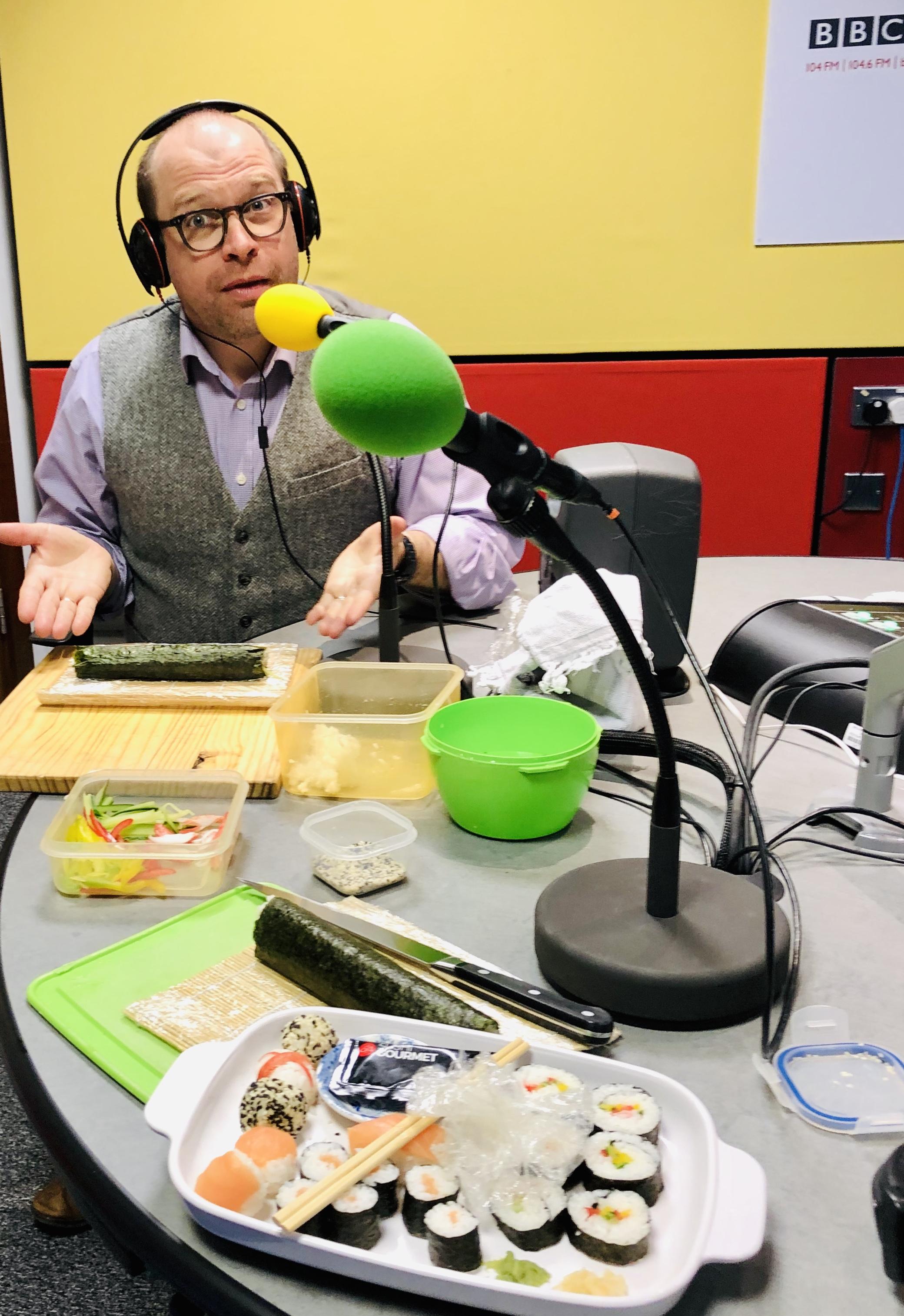 BBC Radio Surrey presenter Jo Talbot's first sushi lesson!