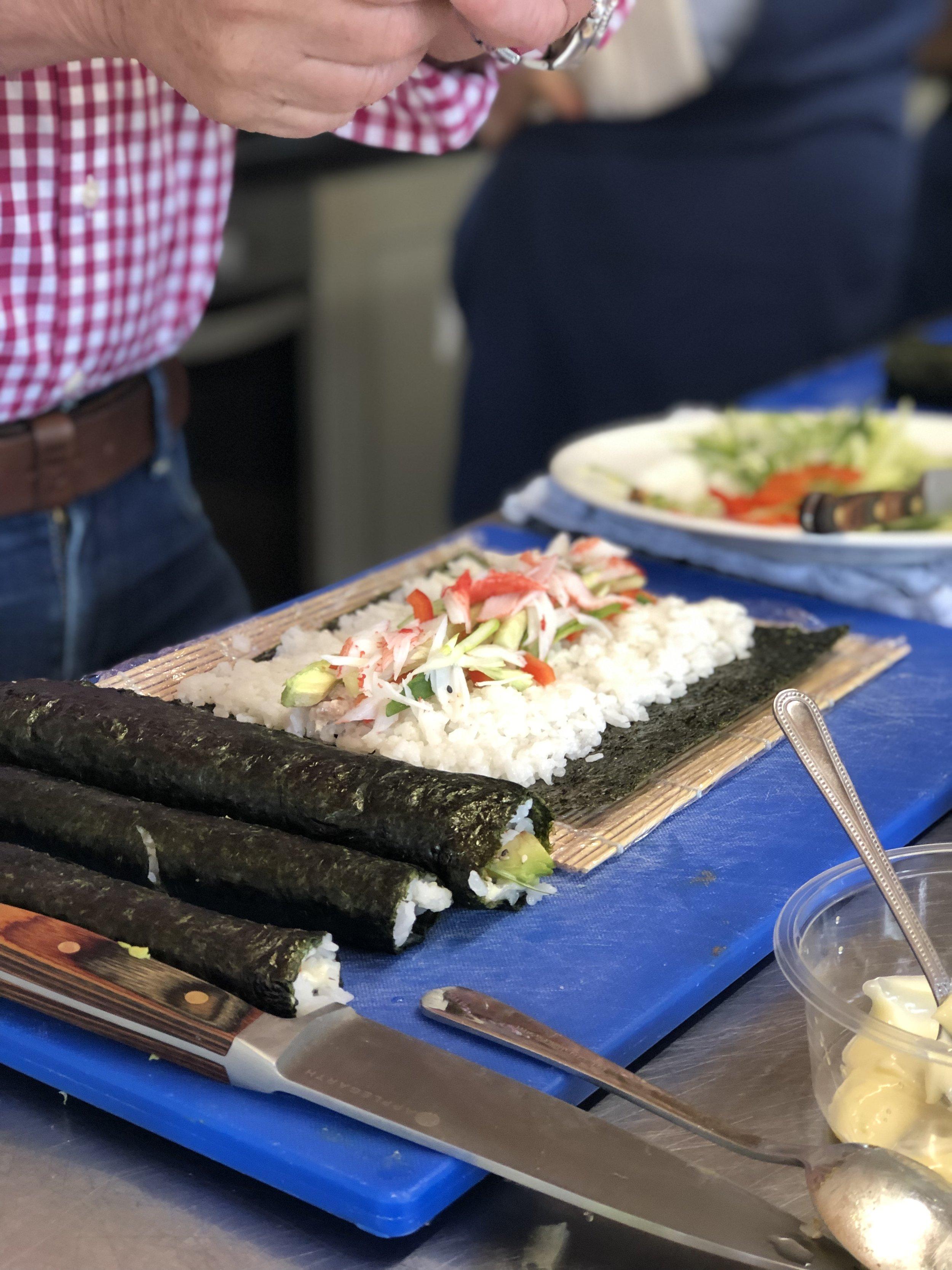 Applegarth Farm Cookery school sushi lesson