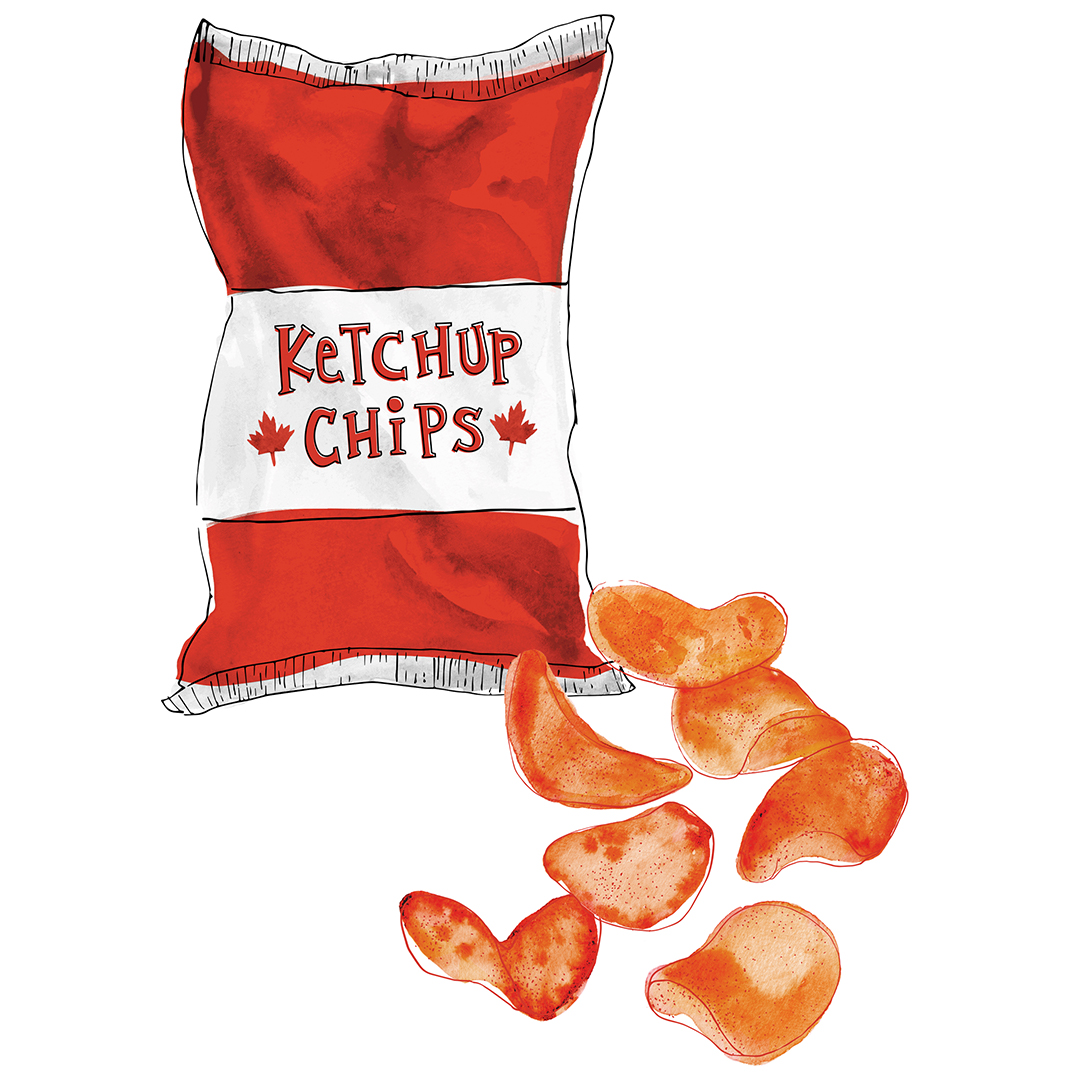 While the origins of the ketchup chip are uncertain, Canadian's are definitely the biggest consumer of the red chip.