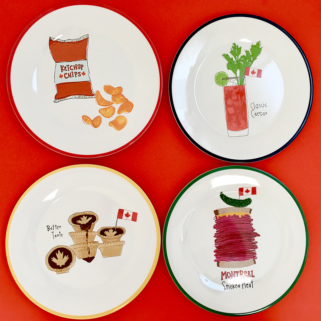 Cute melamine plate set available in 2 sizes at HomeSense stores across Canada.