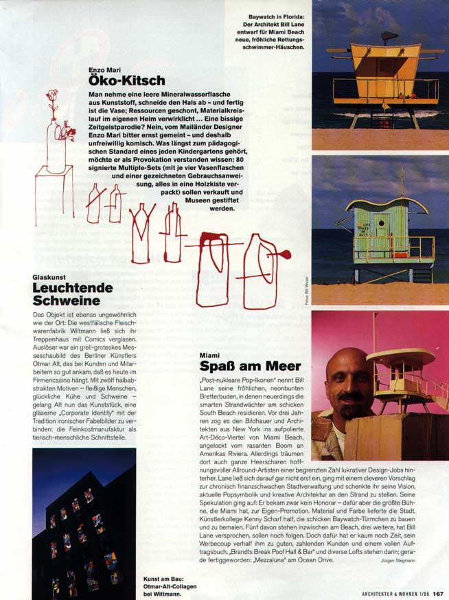ARCHITEKUR & WOHNEN, JANUARY 1996