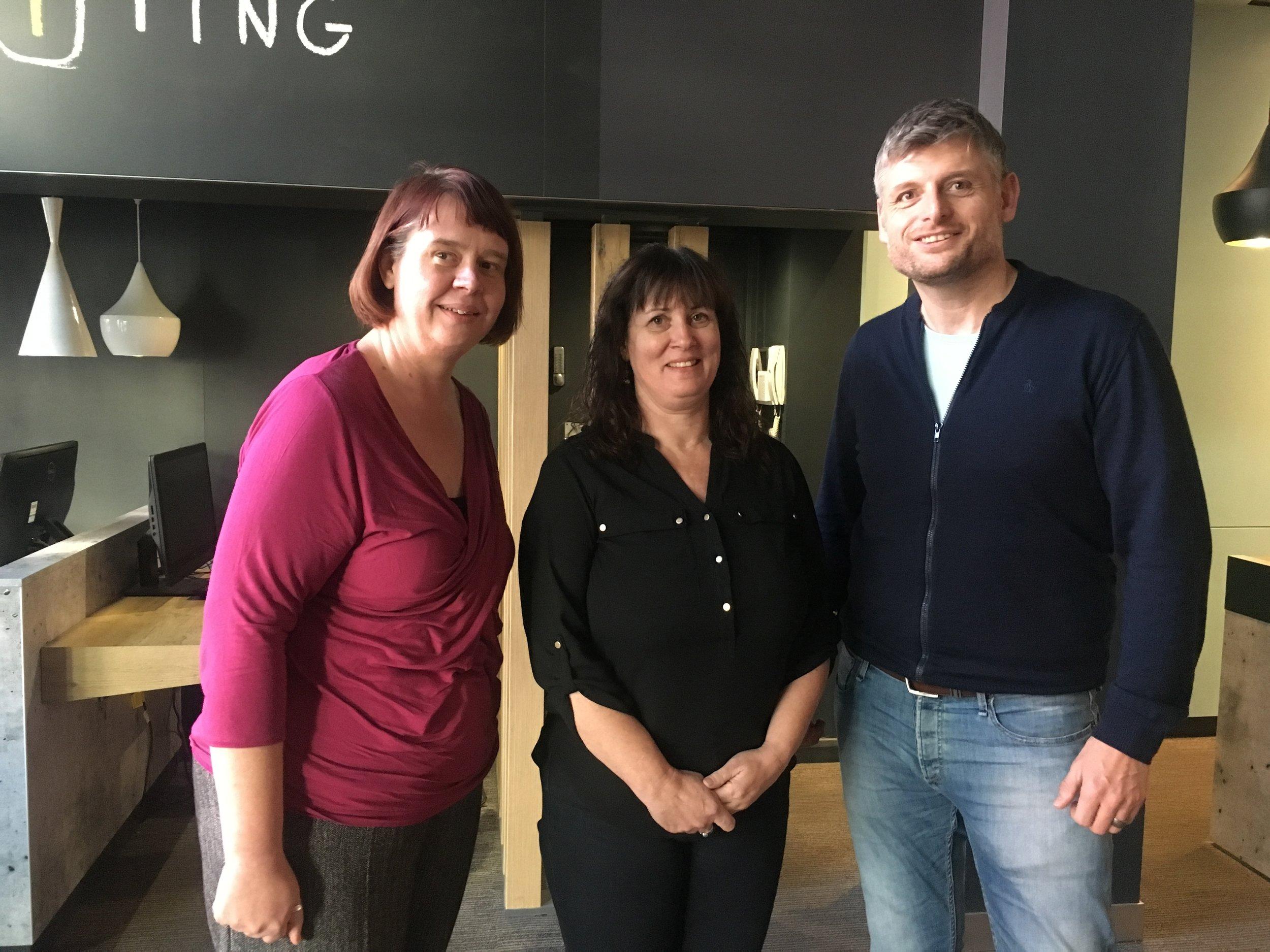 Emma Nelson (Registered Care Manager), Debra Eason (Principal), Ian Thorsteinsson (Regional Manager - Children's Services)