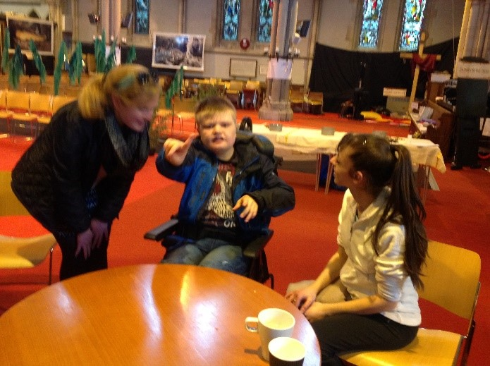 Students were greeted at the church and enjoyed a hot cross bun.