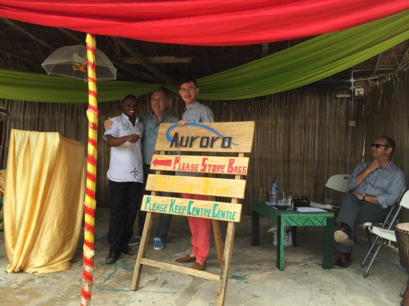 Aurora CEO Stephen Bradshaw & Dream Big Ghana Founder Dougal Croudace