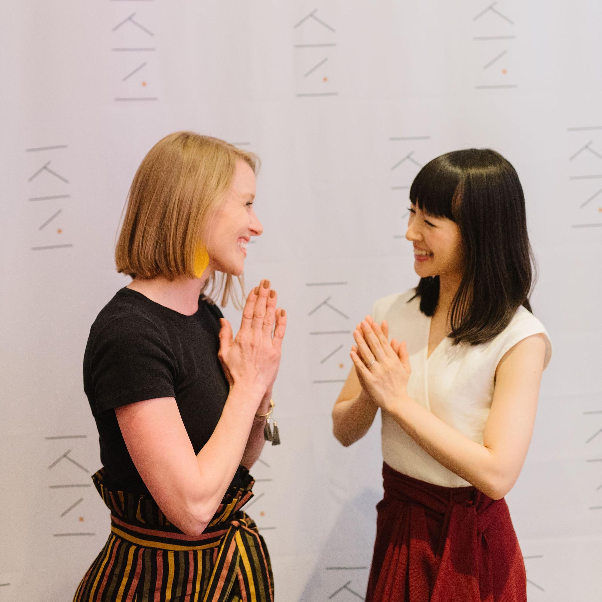 austin konmari consultant erin MURSCH with Marie Kondo