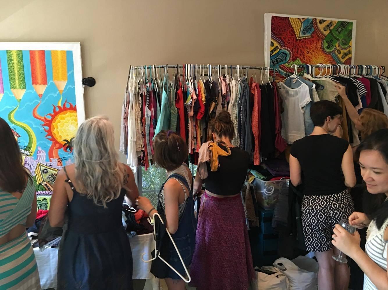 Amplify Austin Clothing Swap Benefitting Rst Organized For Good