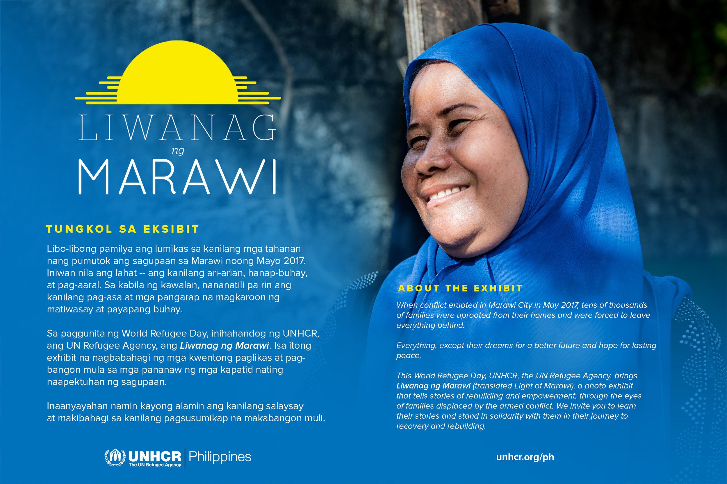 About Liwanag ng Marawi, displayed at the main entrance of the exhibit