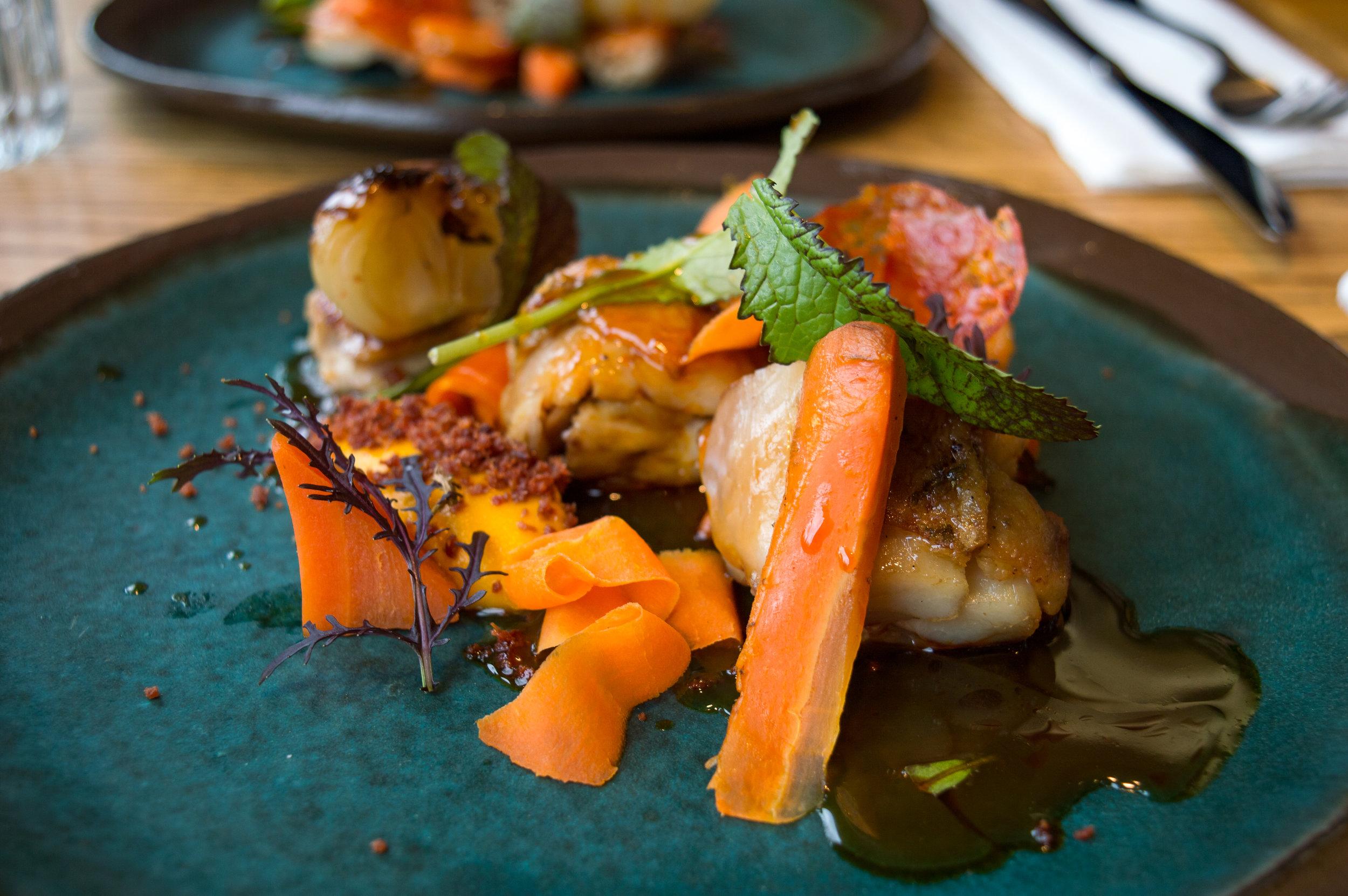 Chicken / carrot / chorizo / cipollini