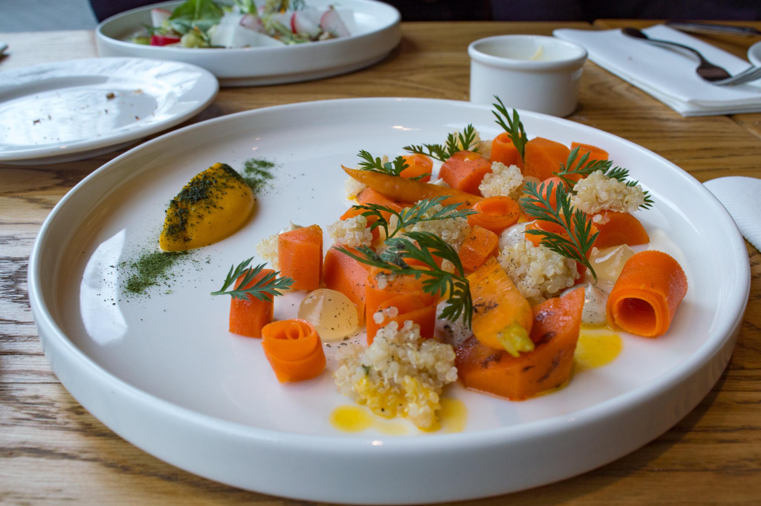 Vegetarian option:quinoa / cider / carrot / nori at Rozbrat 20
