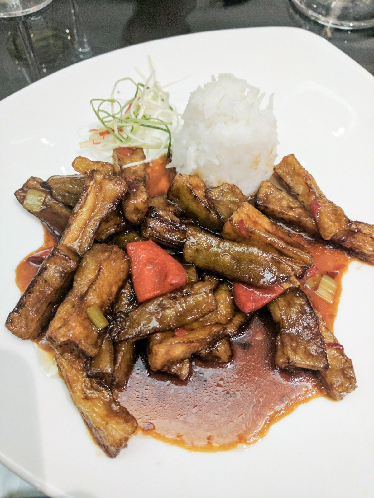Rice with aubergines