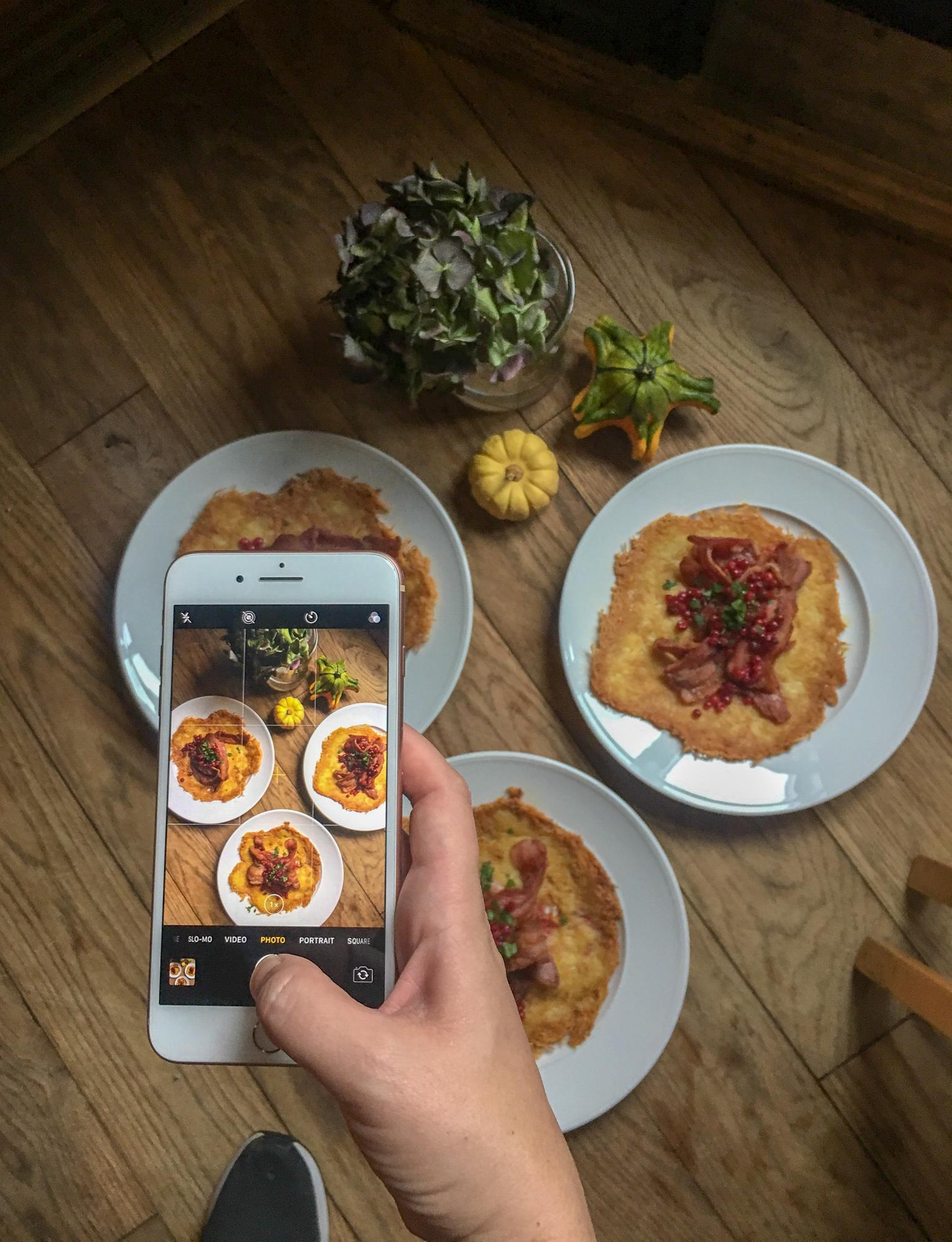 Raggmunk potato rosti with pork and lingonberry at Isaberg Mountain Resort