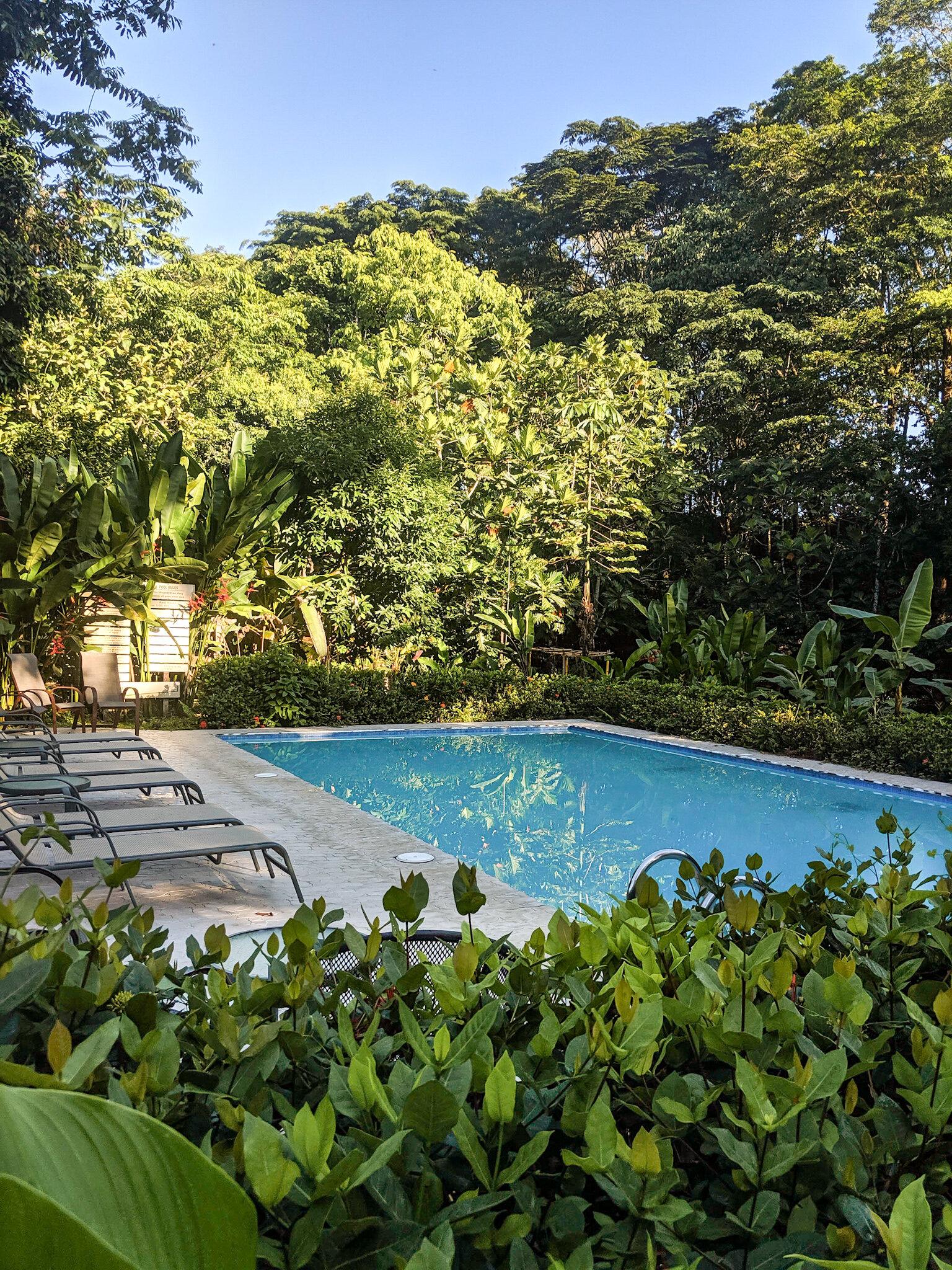 One of the two pools at  La Quinta de Sarapiquí .