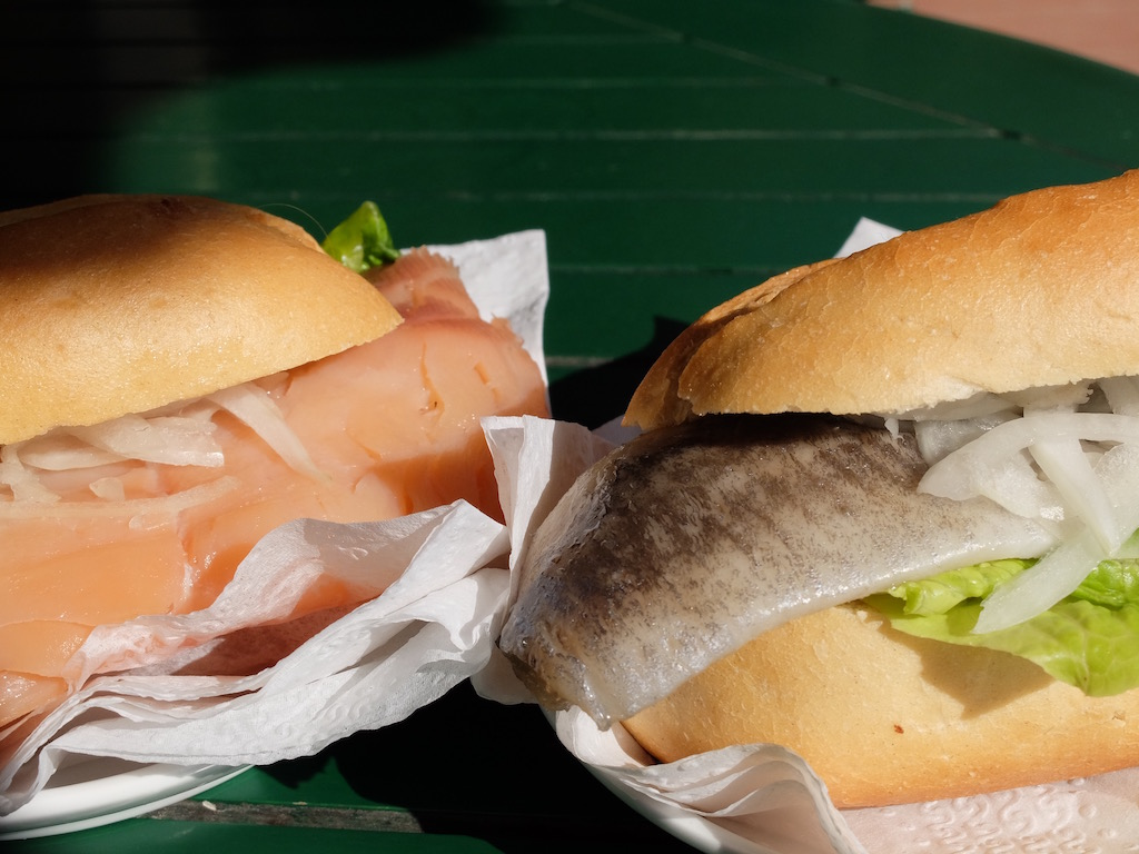 Salmon and MACKEREL fischbrötchen © Natale esposito
