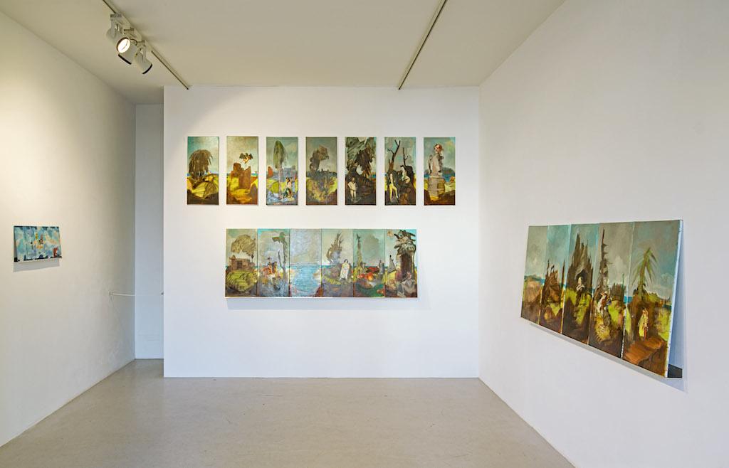 Junior Toscanelli at  Anna Jill Lüpertz Gallery , April 2015 © Junior Toscanelli, Courtesy Anna Jill Lüpertz Gallery