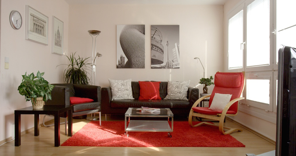 Main living space in Berlin Apartment Plattenbau