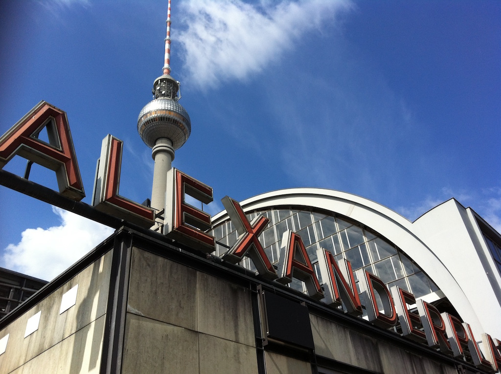 The TV Tower and Alexanderplatz U and S Bahn station
