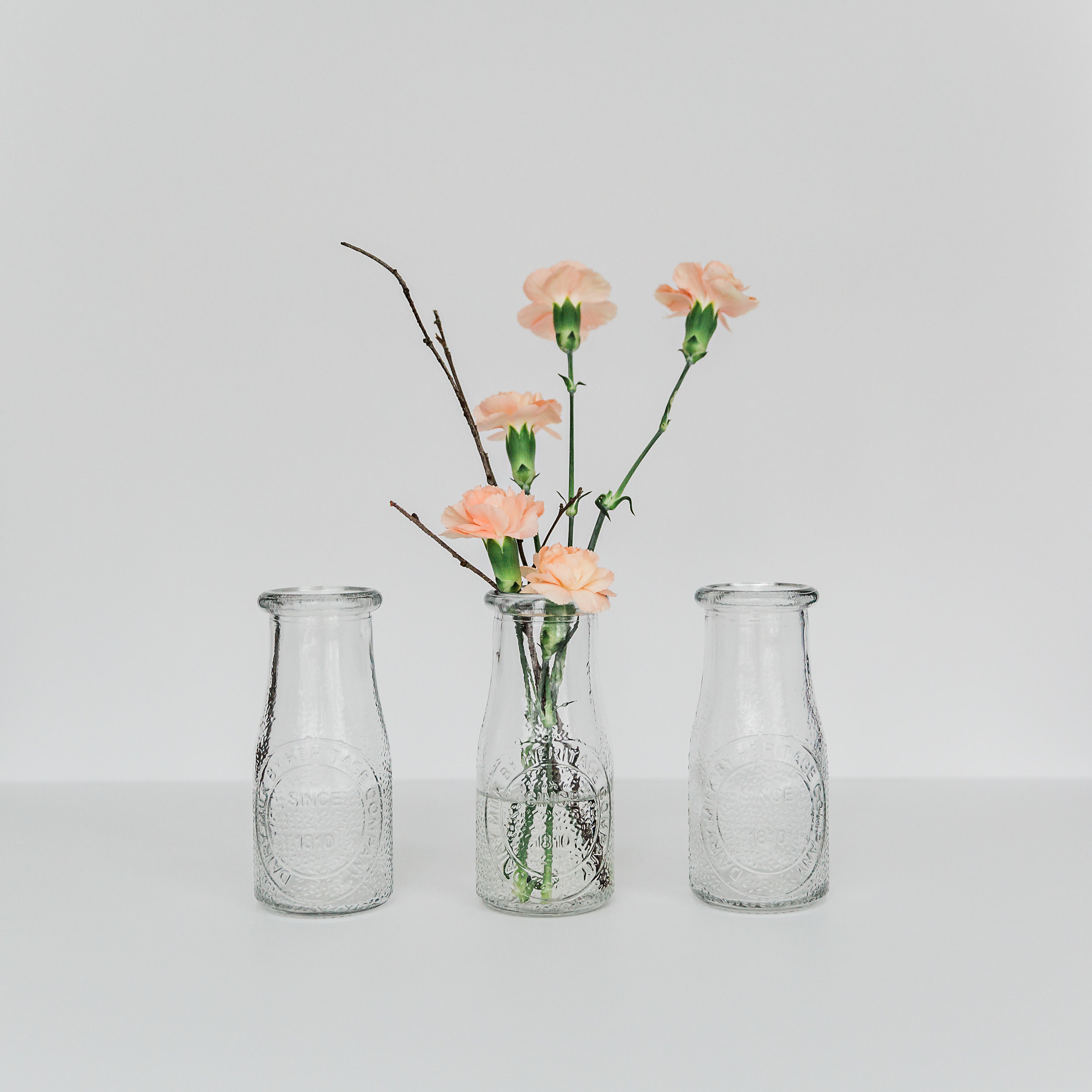 Glass Milk Bottle  height: 5 inches >>>$0.50 each<<<