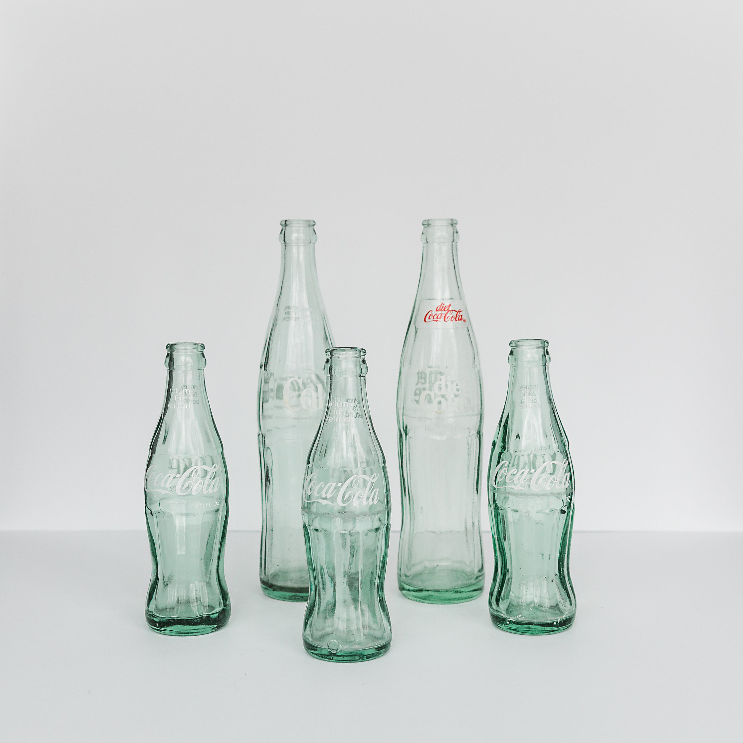 Pop Bottle Collection  various heights >>>$0.25 each<<<