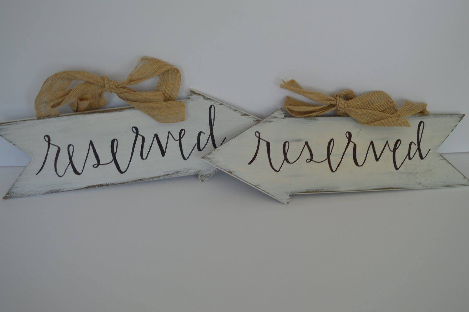 Hanging Reserved Signs  >>>$2.00 set of 2<<<