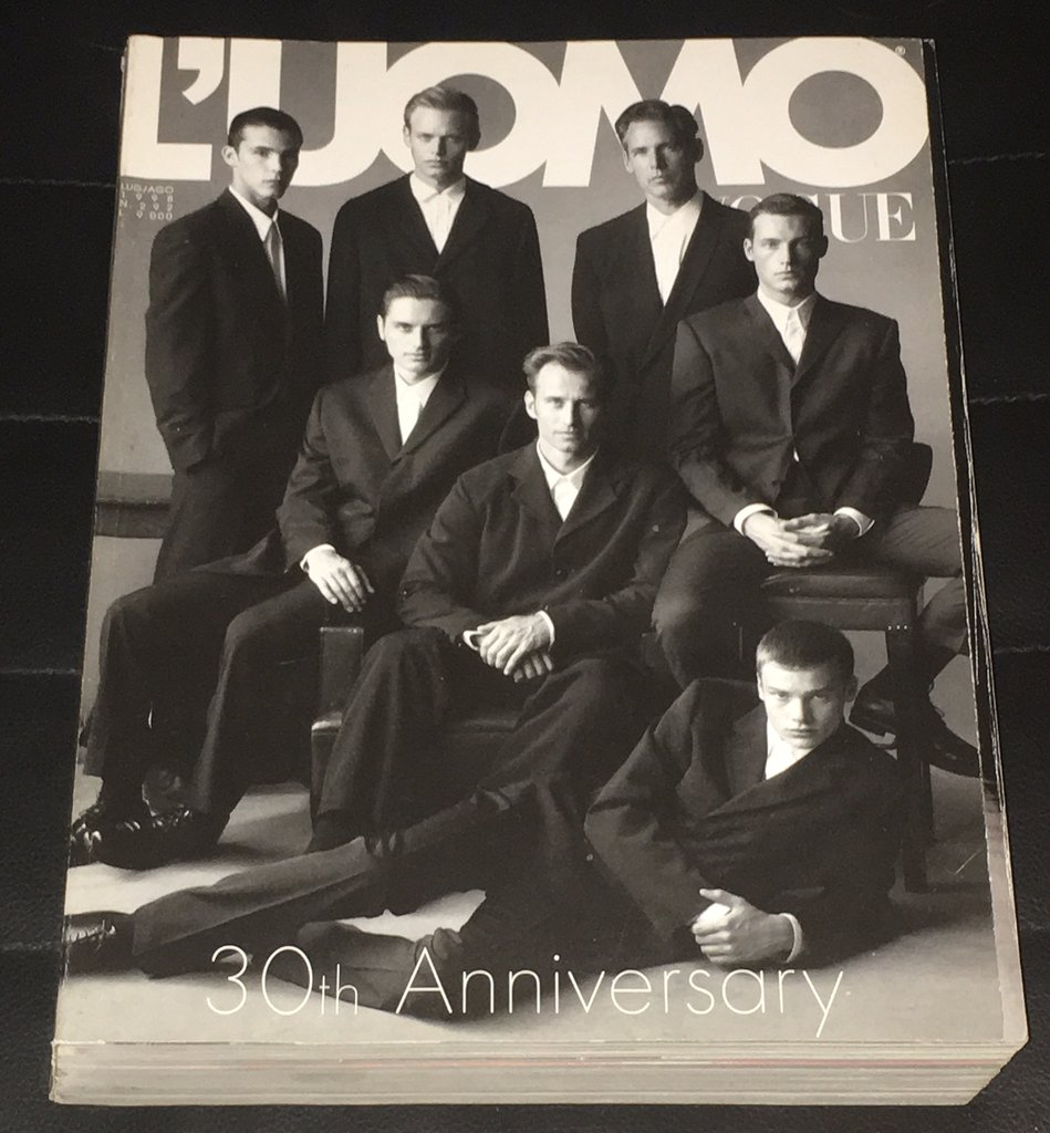 30th anniversary of L'uomo vogue, one of the most exciting events of my career