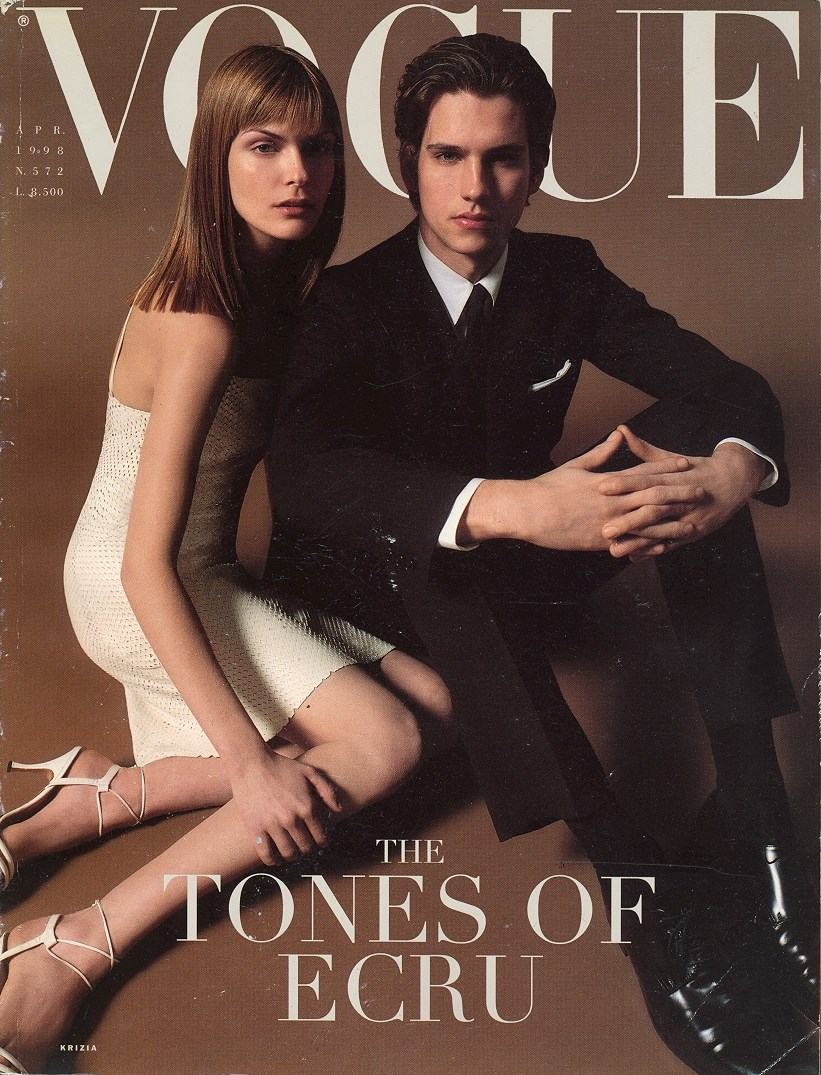 A cover during my time as a fashion assistant at Italian Vogue