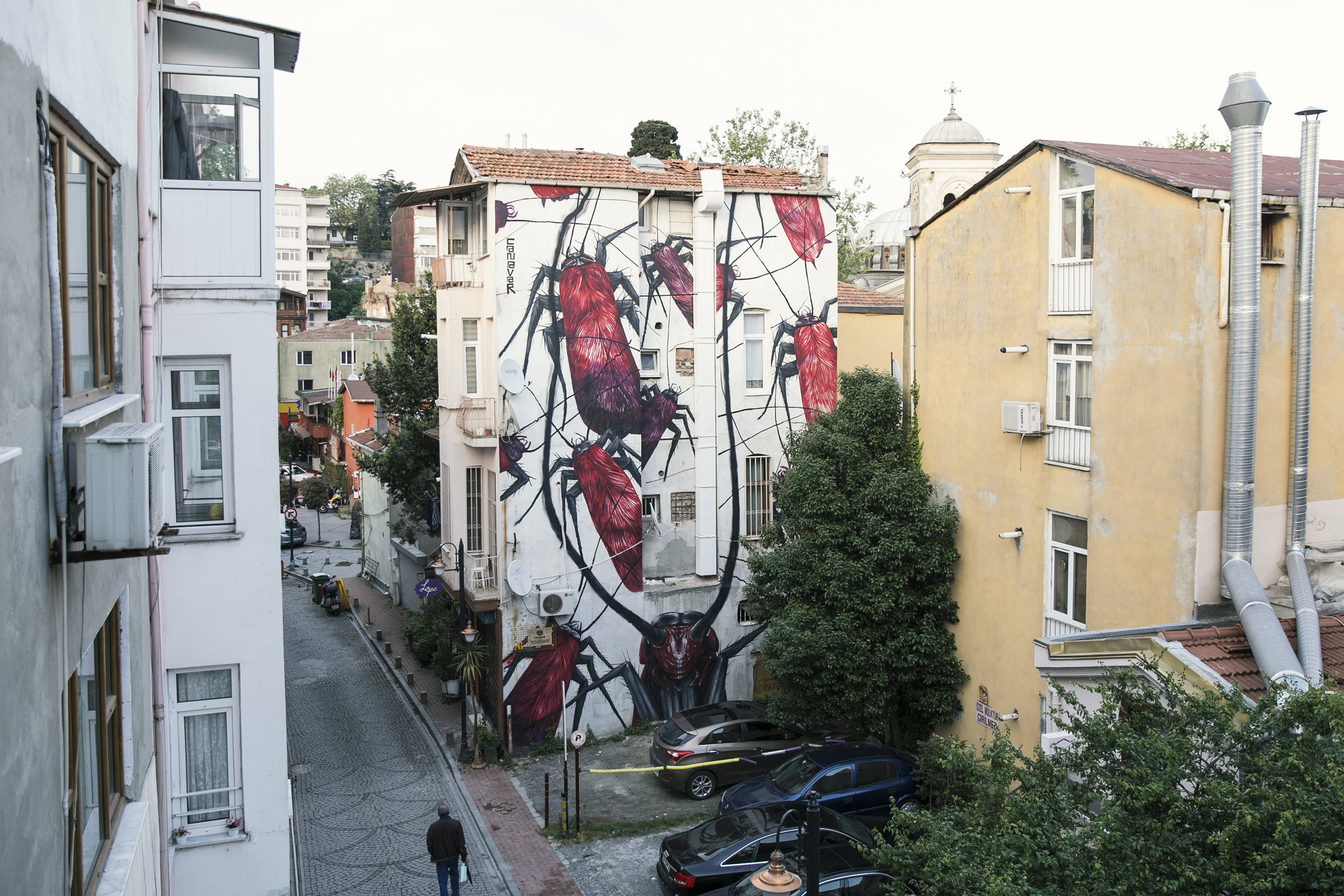 Canavar, Mural ( Ghosts , Red Bull Art Around Istanbul, 2018)
